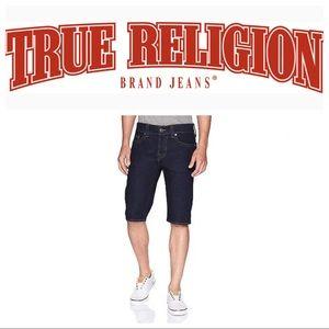 True Religion Ricky Relaxed Straight Denim Shorts